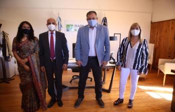 Ambassador Dinesh Bhatia was pleased to meet and greet Gustavo Gennuso