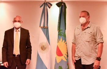 Meet and exchange with Minister of Security of Province of Buenos Aires Sergio Berni