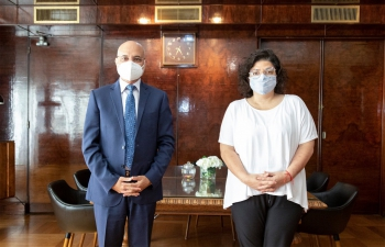 Ambassador Dinesh Bhatia met with Argentine Health Minister Carla Vizzotti at Ministry of Health