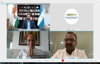 Ambassador Dinesh Bhatia held a virtual meeting with Pharmaxcil team,