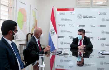 Ambassador Dinesh Bhatia met Minister of Public Health & Social Welfare Julio Borba at Ministry of Public Health and Social Welfare