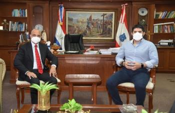 Ambassador Dinesh Bhatia had the pleasure to meet Oscar Nenecho Rodríguez, the dynamic Mayor of city of Asunción at Municpalidad of Asunción