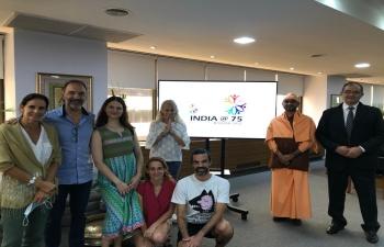 Ambassador Dinesh Bhatia hosted top 25 Yoga institutes & organizations in Argentina