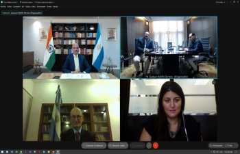 """Ambassador Dinesh Bhatia spoke at the seminar """"India in terms of opportunities"""" hosted by Banco Provincia and Equilibrium Global"""