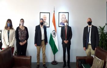 Ambassador Dinesh Bhatia met Raúl Kulichevsky, Executive and Technical Director of CONAE