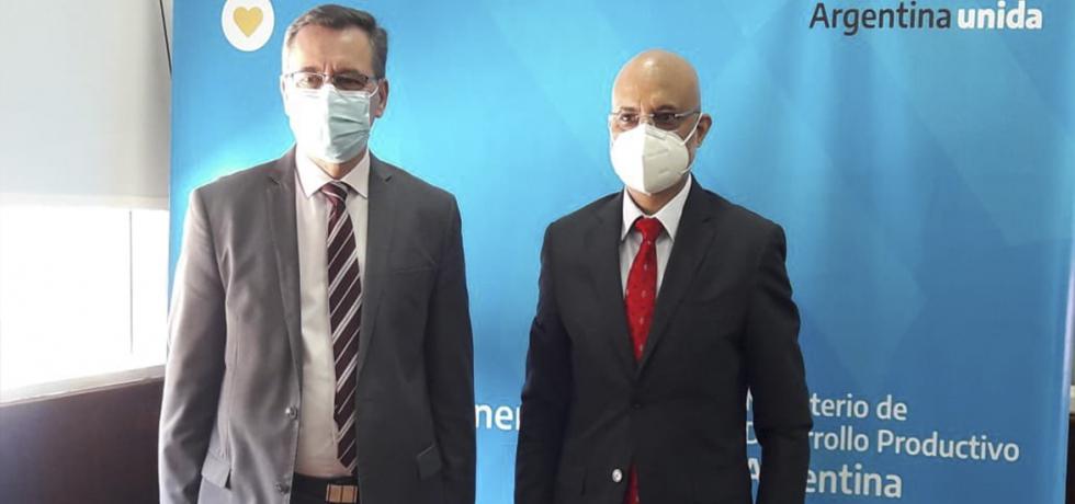 Meeting with Dr. Alberto Hensel, Mining Secretary of Argentine Republic