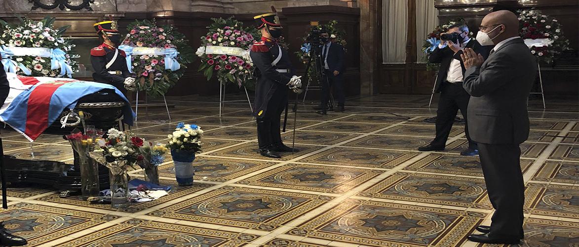 Ambassador paid last respects to former Argentine President Carlos Saúl Menem
