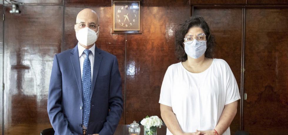 Ambassador met with Argentine Health Minister Carla Vizzotti