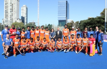 Celebrating yet another impressive victory 4-2 of Indian Hockey team against Argentina