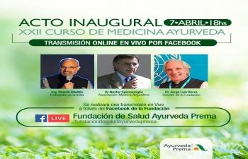 Ambassador Dinesh Bhatia inaugurated XXII Course on Ayurvedic Medicine organised by Fundación de Salud Ayurveda Prema