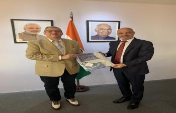 Ambassador Dinesh Bhatia had the pleasure of meeting Carlos Enciso Christiansen, the Uruguayan Ambassador to Argentina
