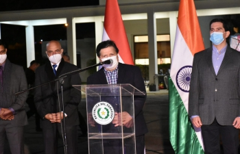 Foreign Minister Euclides Acevedo thanked India for the second batch of 100k #MadeinIndia Covaxin doses
