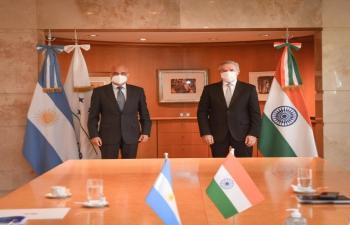 Ambassador Dinesh Bhatia met Felipe Solá, Minister of Foreign Affairs Ministry