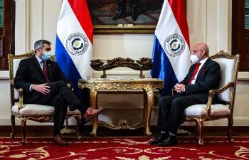 Ambassador Dinesh Bhatia met with Mario Abdo at Presidency Paraguay