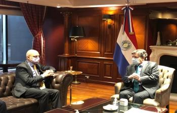Ambassador Dinesh Bhatia met Paraguayan Foreign Minister Euclides Acevedo during latter's visit to Buenos Aires