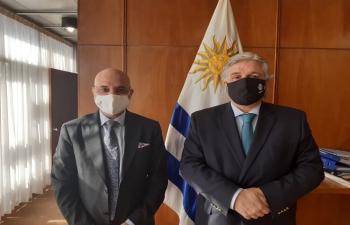 Meeting with H.E. Francisco Bustillo, Chancellor of Uruguay