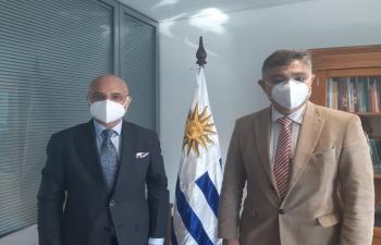 Ambassador Dinesh Bhatia met Isaac Alfie, Dir of Planning & Budget in Uruguay