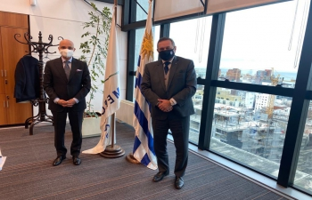 Ambassador Dinesh Bhatia had the pleasure to meet Alvaro Delgado, Secretary to President Luis Lacalle Pou