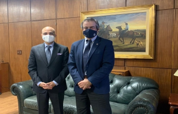 Ambassador Dinesh Bhatia met with Carlos María Uriarte, Uruguayan Minister of Livestock, Agriculture & Fisheries