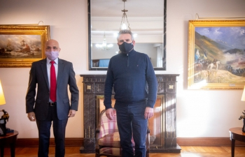 Ambassador Dinesh Bhatia met with Agustín Rossi, Argentine Minister of Defense