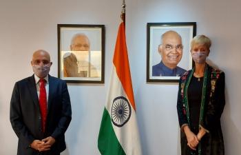 Ambassador Dinesh Bhatia received Senator Silvina García Larraburu