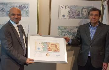 El Embajador Dinesh Bhatia se reunió con Rodolfo Gabrielli Presidente de Casa de la Moneda Argentina