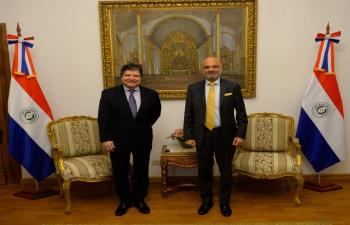 El Embajador Dinesh Bhatia se reunió con Euclides Acevedo, Ministro del Ministerio de Relaciones Exteriores de Paraguay